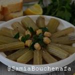 tagine khorchef cardes en sauce blanche