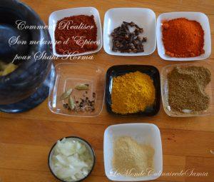 comment faire ses épices pour shahi korma