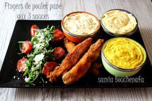 finger de poulet pané aux 3 sauces