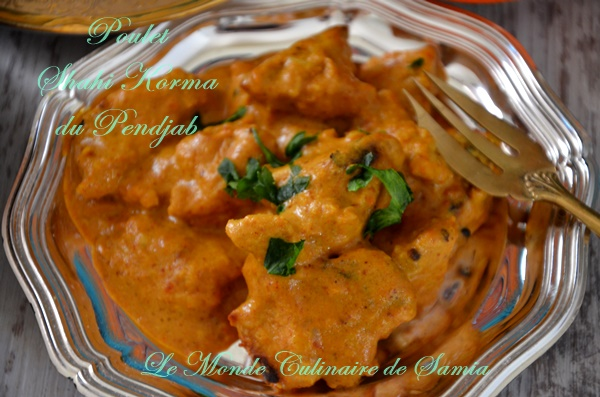 poulet korma indien curry