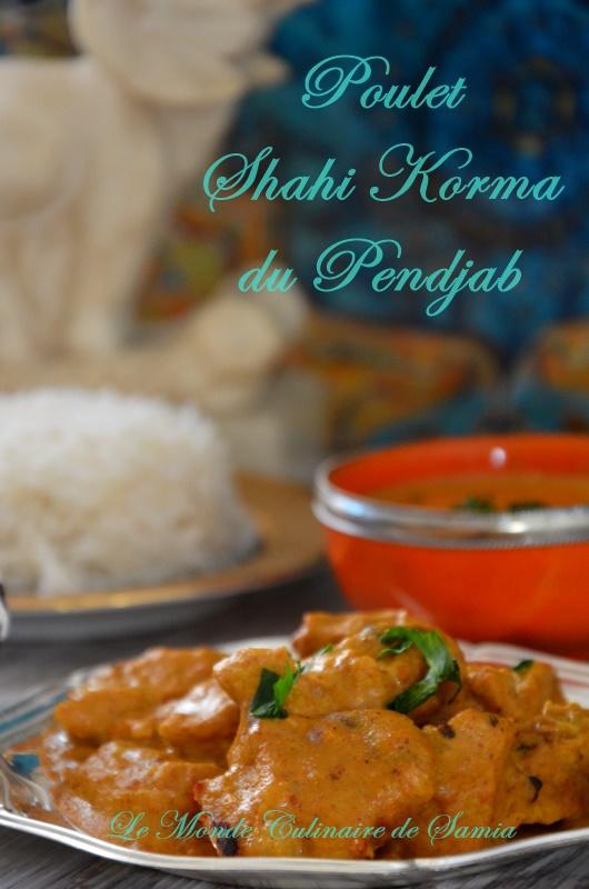 poulet shahi korma du pendjab Indien