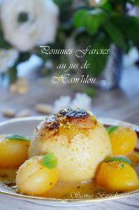 pommes farices aux amandes au jus de ham'hlou