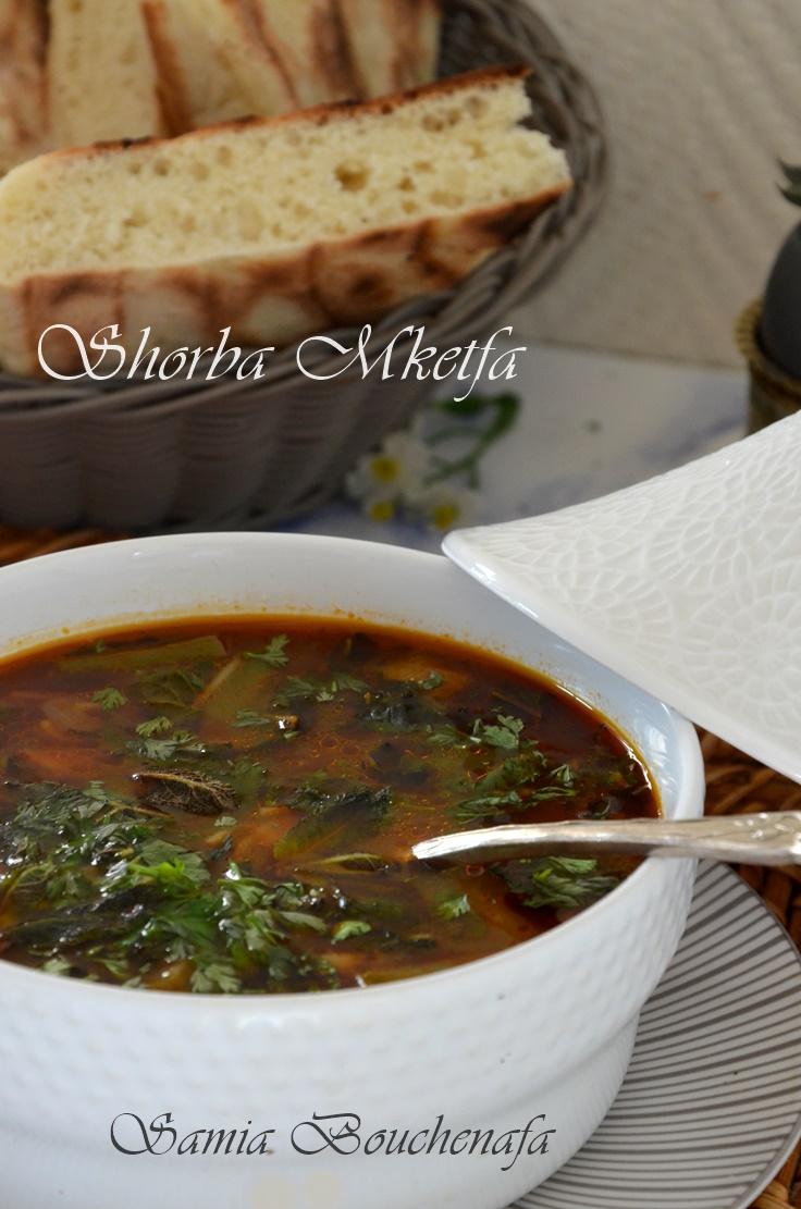 Chorba mkatfa soupe rouge au vermicelles