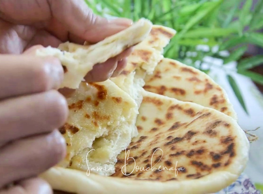 Cheese naan indienne au fromage