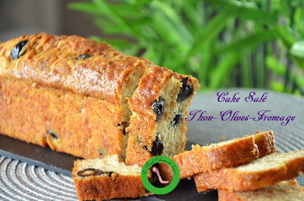 cake salé facile inratable thon olive fromage