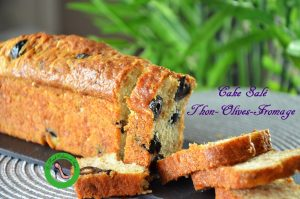 cake salé olives thon fromage recette facile