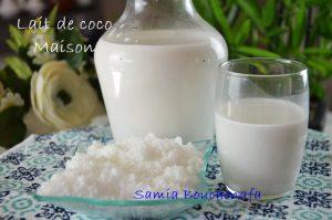 lait de coco naturel fait maison, recette facile