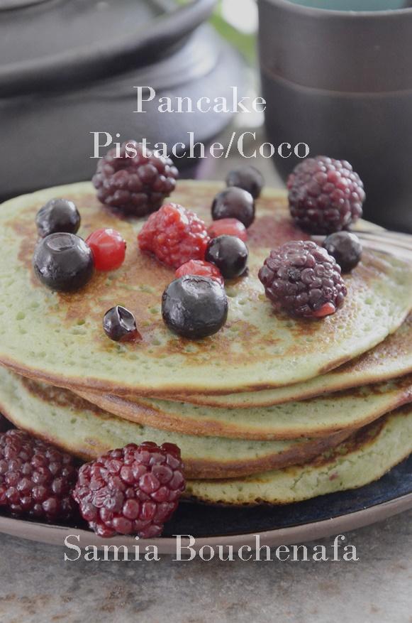 pancakes pistache coco samia bouchenafa