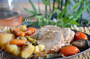 quasi rôti de veau et légumes