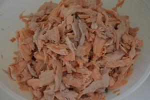 saumon emietté pour parmentier
