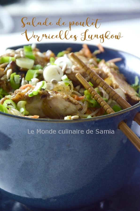 salade vermicelle lungkow poulet-sésame