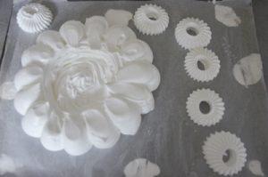 dressage de la meringue pour pavlova