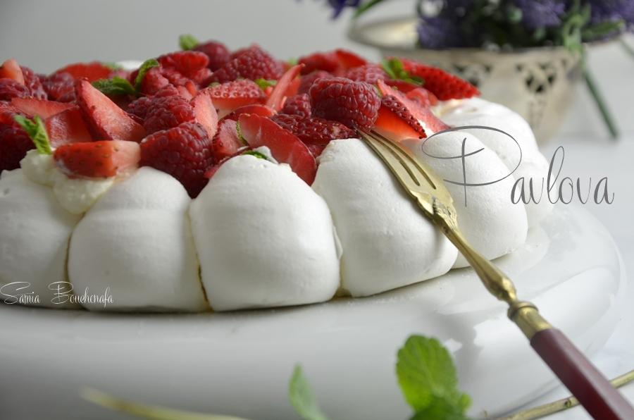 pavlova de la meringaie aux fruits rouges