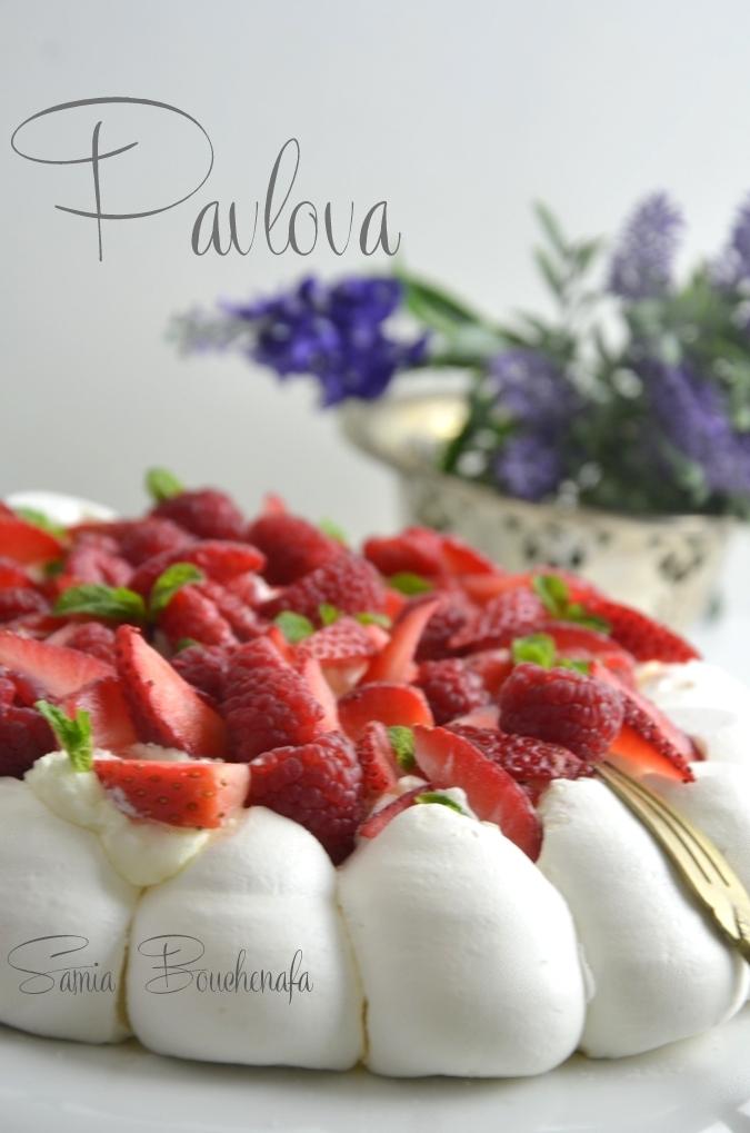 pavlova fraises-framboises