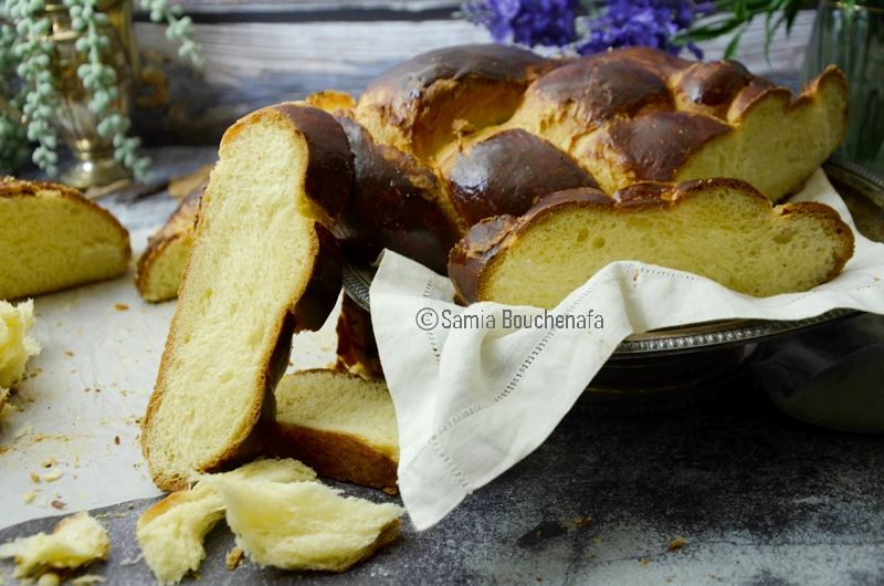 brioche boulangère tressée au beurre