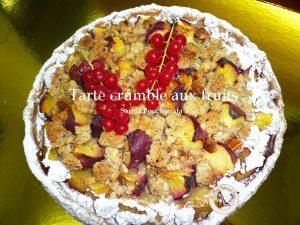 tarte crumble aux fruits