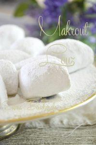 makrout louz algerois au citron aux amandes