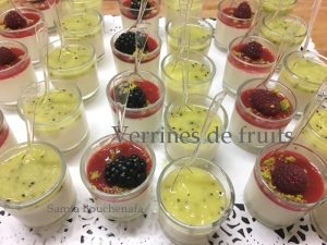 verrines creme citron et fruits