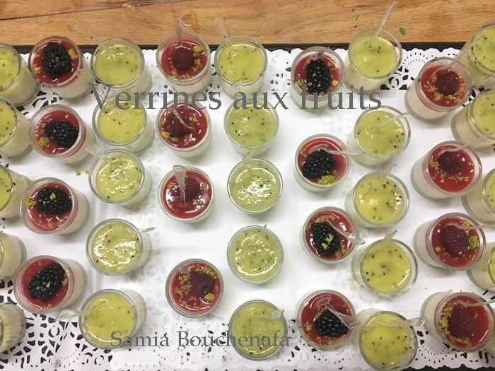 verrines de fruits