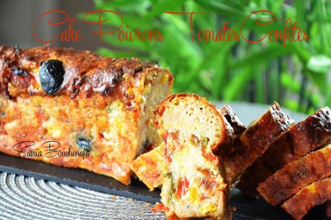 cake poivron tomate olive maïs