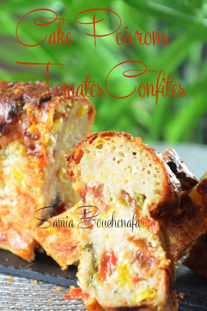 cake salé maïs poivrons tomates confites