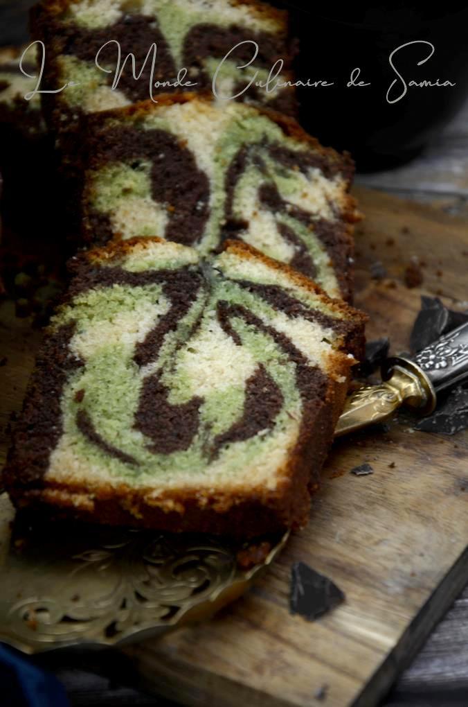 cake marbré aux trois couleurs