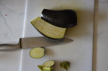 décupe aubergine farcie