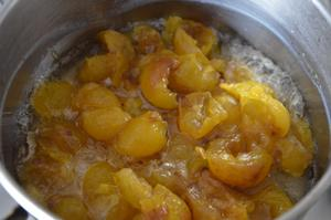 cuisson et egoutage des mirabelles