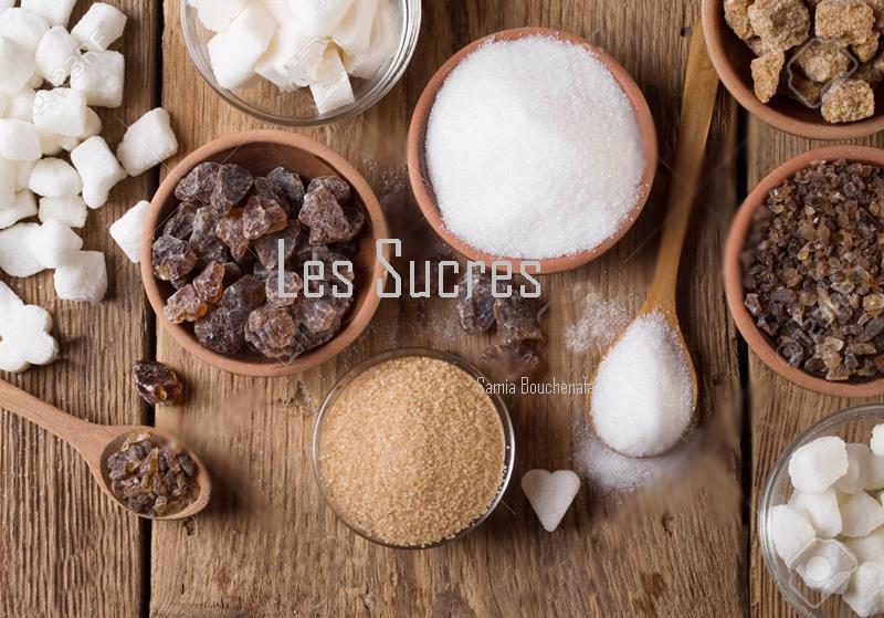 différentes sortes de sucres