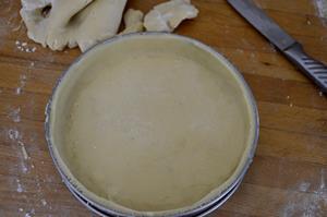 fonçage pâte sablée amande