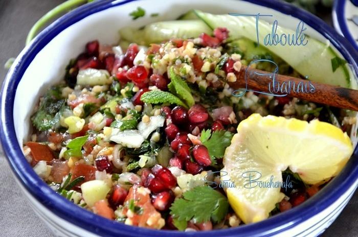 taboulé libanais véritable recette