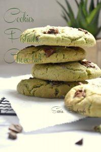 cookies moelleux pistache chocolat lait
