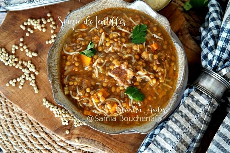 soupe aadess algerienne