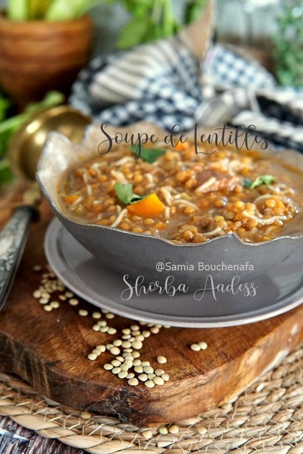 soupe algerienne lentille vermicelles